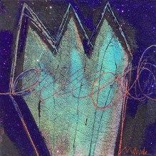 "SOLD - Deep Scrawl acrylic mixed media on canvas. 36"" x 36"""