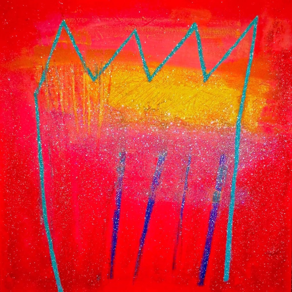 Gratitude acrylic mixed media on canvas 48x48in.