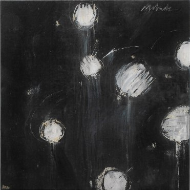 KOSHARE 13 acrylic-micaceous iron oxide on canvas 30x30in.