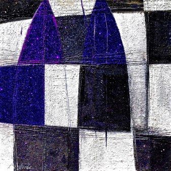 Majesty acrylic-sand-mica- powdered pigment-glitter-diamond dust on canvas 48x48in.