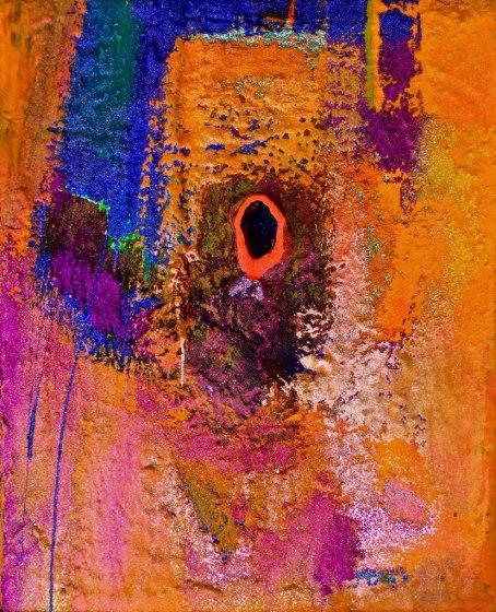 Pink Velvet acrylic-mixedmedia on canvas 30x24in.