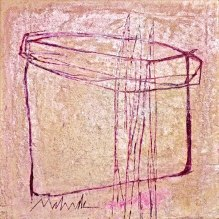 Spiked acrylic-sand-mica- powdered pigment on canvas 24x24in.