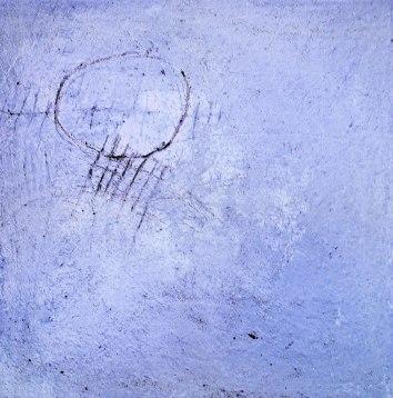 "UNTITLED 10 acrylic/sand/mica/powdered pigment/glitter/diamond dust on canvas 36"" x 36"""