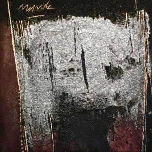 "UNTITLED 13 acrylic/sand/powdered pigment/mica/glitter/diamond dust on canvas 30"" x 30"""