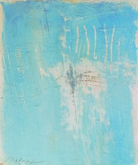 "UNTITLED 15 acrylic/sand/powdered pigment/mica/glitter/diamond dust on canvas 36"" x 30"""