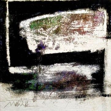 "UNTITLED 16 acrylic/sand/powdered pigment/mica/glitter/diamond dust on canvas 24"" x 24"""
