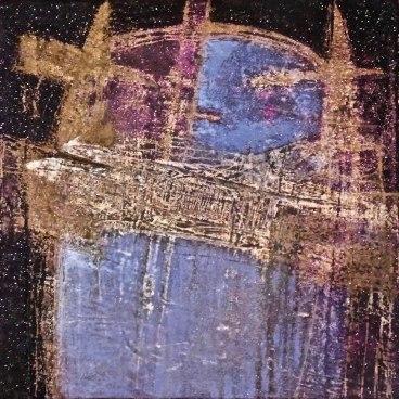 "UNTITLED 26 acrylic/sand/powdered pigment/mica/glitter/diamond dust on canvas 30"" x 30"""
