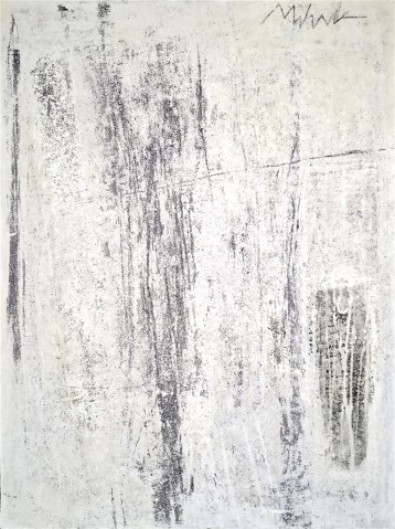 "UNTITLED 27 acrylic/sand/mica/powdered pigment/marble dust/glitter/diamond dust on canvas 48"" x 36"""