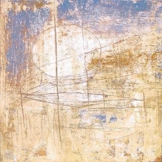 "UNTITLED 9 acrylic/sand/powdered pigment/mica/glitter/diamond dust on canvas 48"" x 48"""