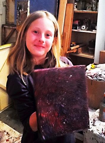 Hadley Worsham with her finished masterpiece.