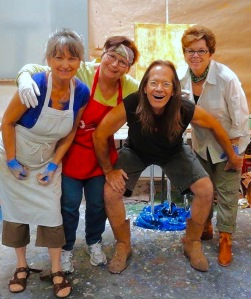 Mentoring with artists Clarity Martin, Judith Toler and Judi Goolsby