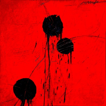 KOSHARE 4 acrylic-micaceous iron oxide on canvas 36x36in.