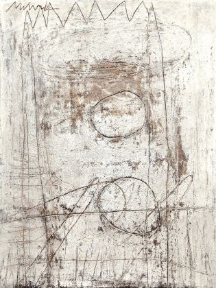 """SOLD - UNTITLED 31 acrylic/sand/powdered pigment/mica/glitter/diamond dust on canvas 48"""" x 38"""""""